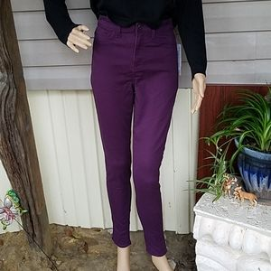 NWT Women's high rise fitted purple jeggings